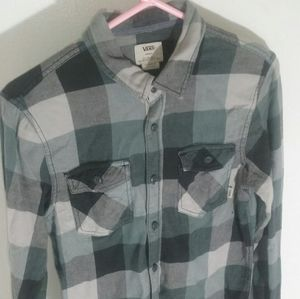 Vans button down shirt.
